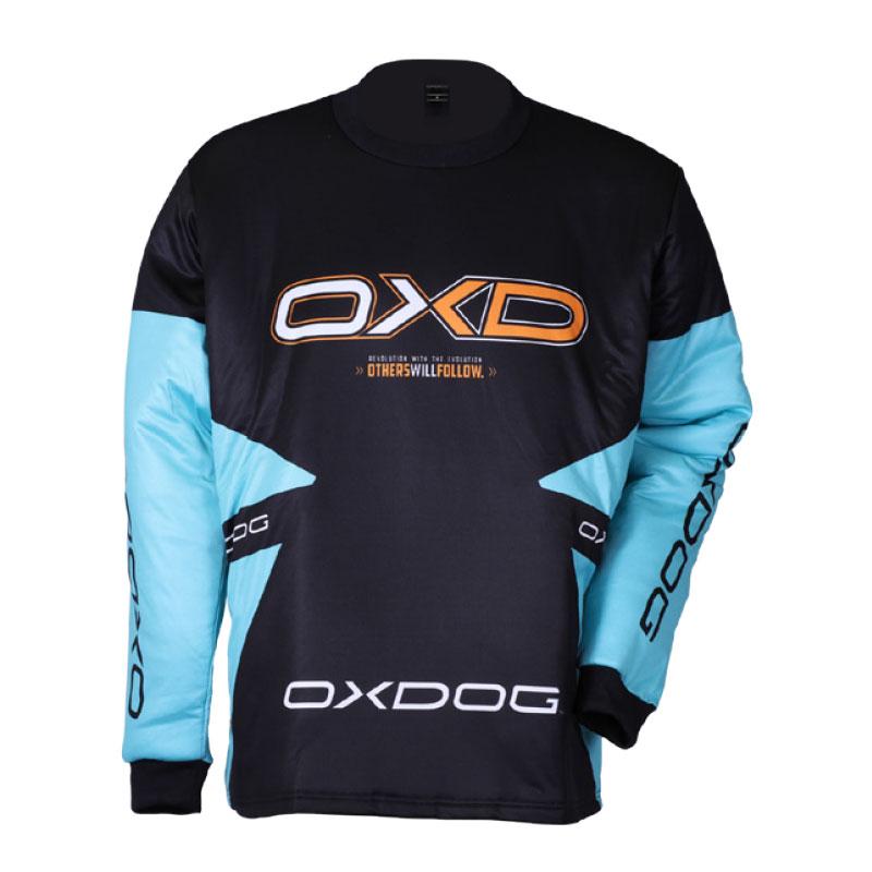 OXDOG VAPOR GOALIE SHIRT tiff blue/black 150/160