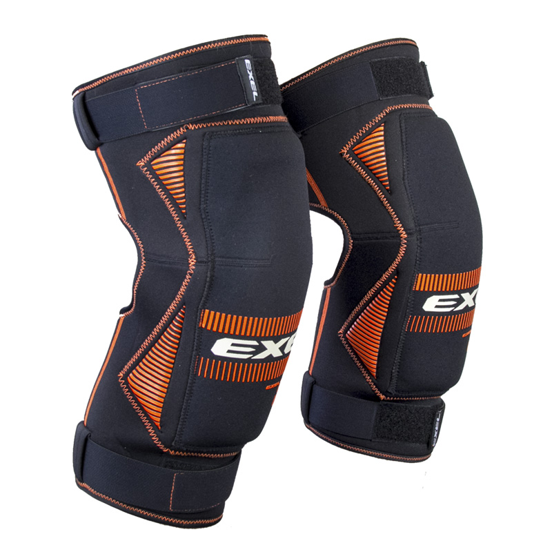 EXEL S100 KNEE GUARD senior black/orange S