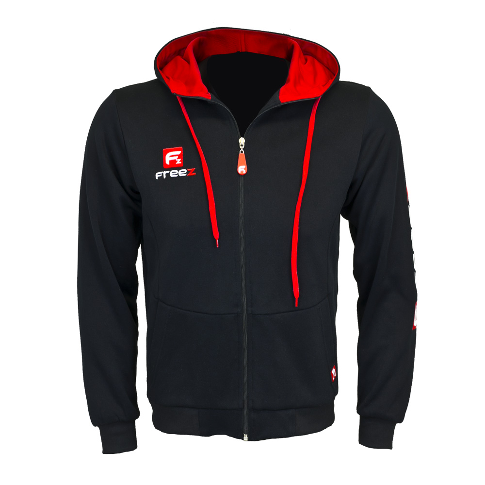 FREEZ VICTORY ZIP HOOD black/red senior XL