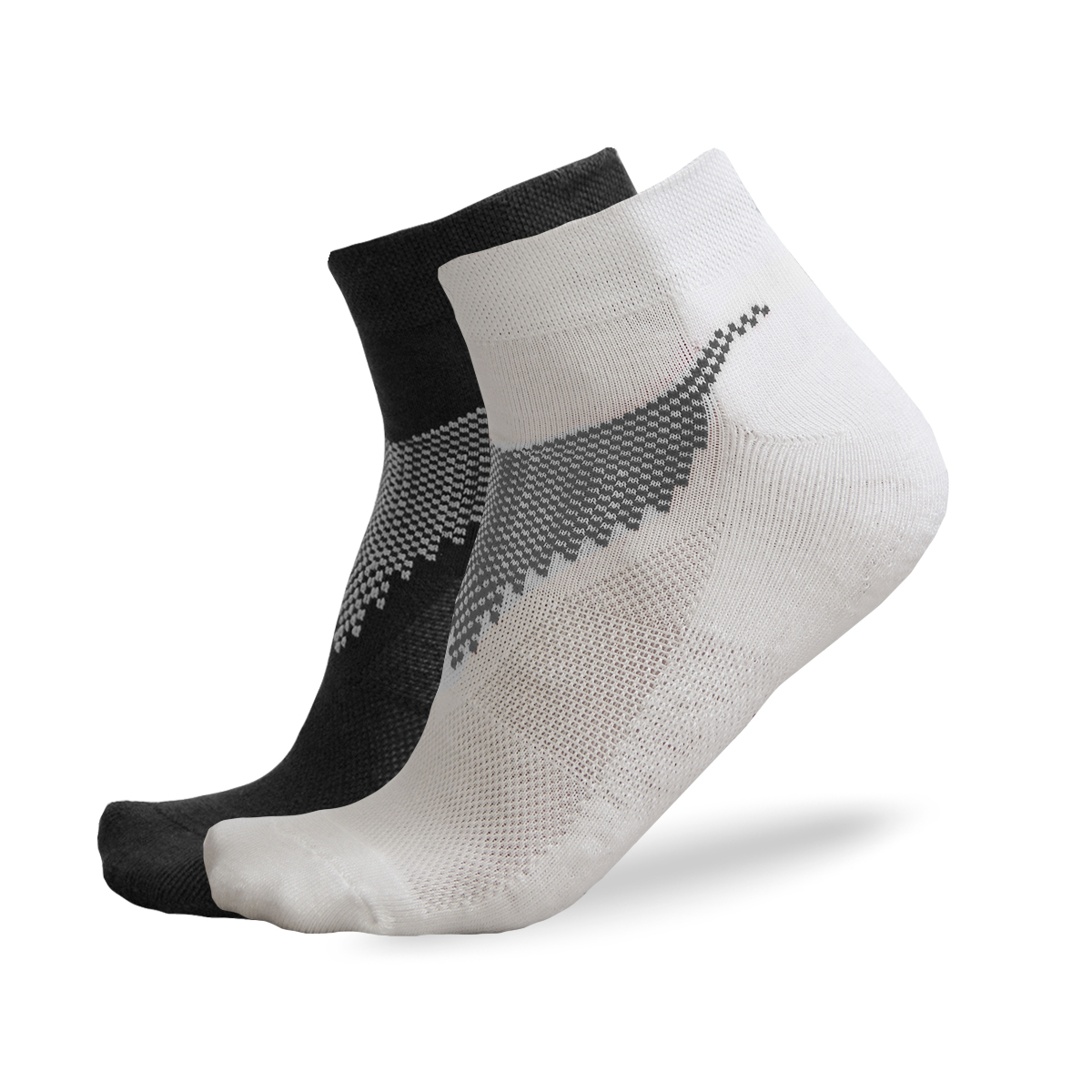 FREEZ ANCLE SOCKS 2-pack black+white 43-46