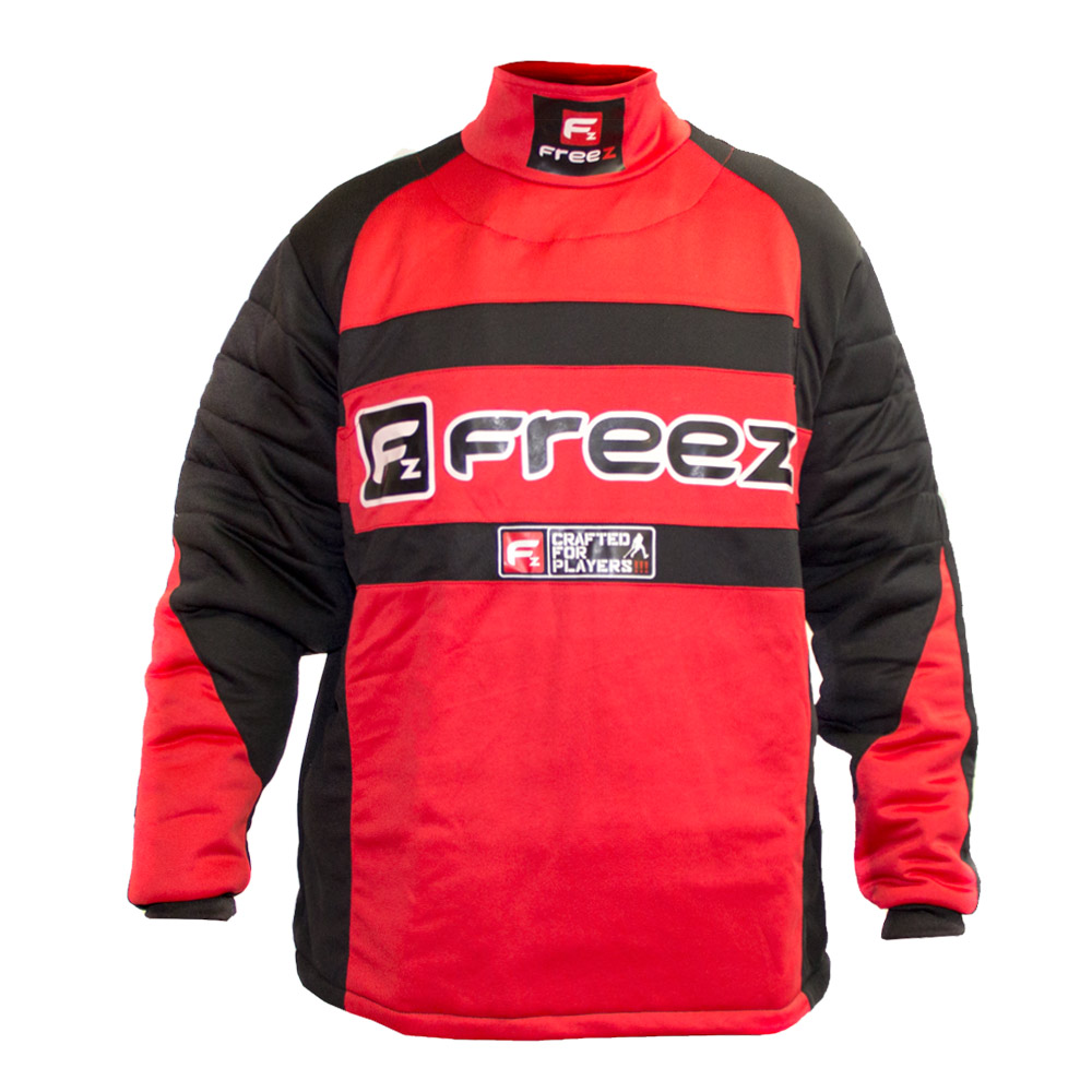 FREEZ Z-80 GOALIE SHIRT BLACK/RED XS